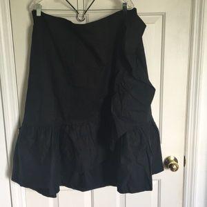 Asymmetrical Flounce Skirt